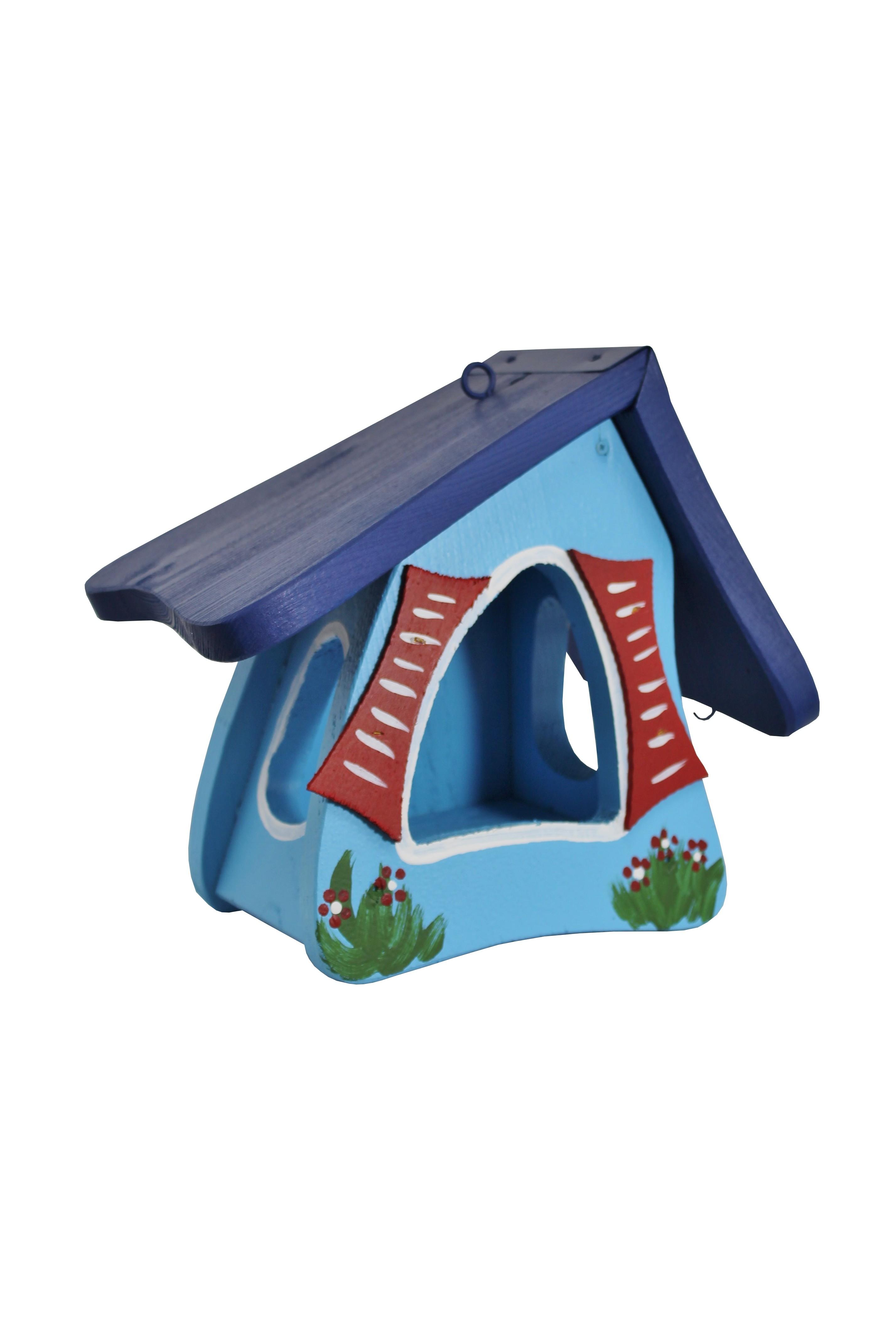 Futtermini Hobbit groß blau von Die Vogelvilla