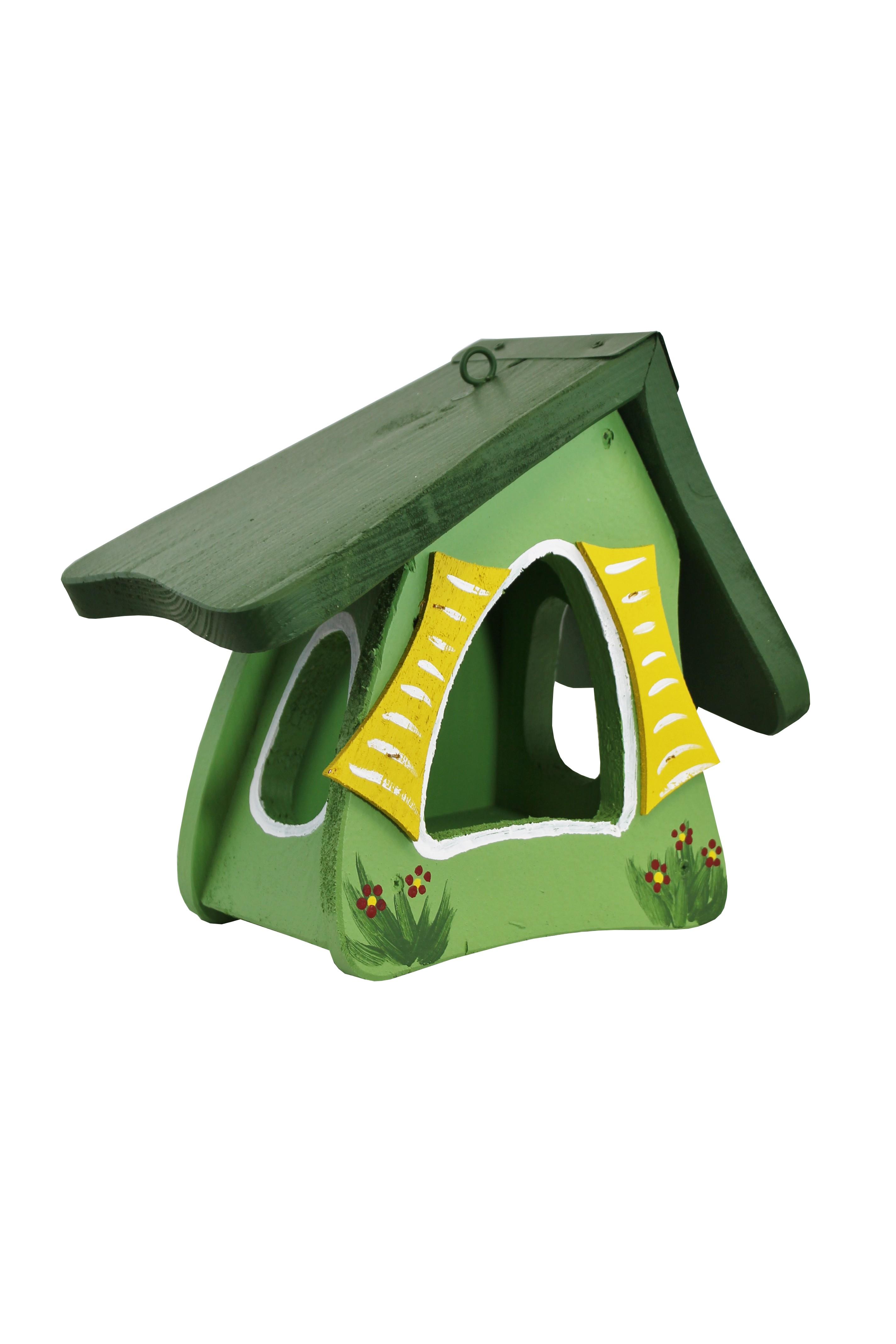 Hobbit groß grün Futtermini von Die Vogelvilla