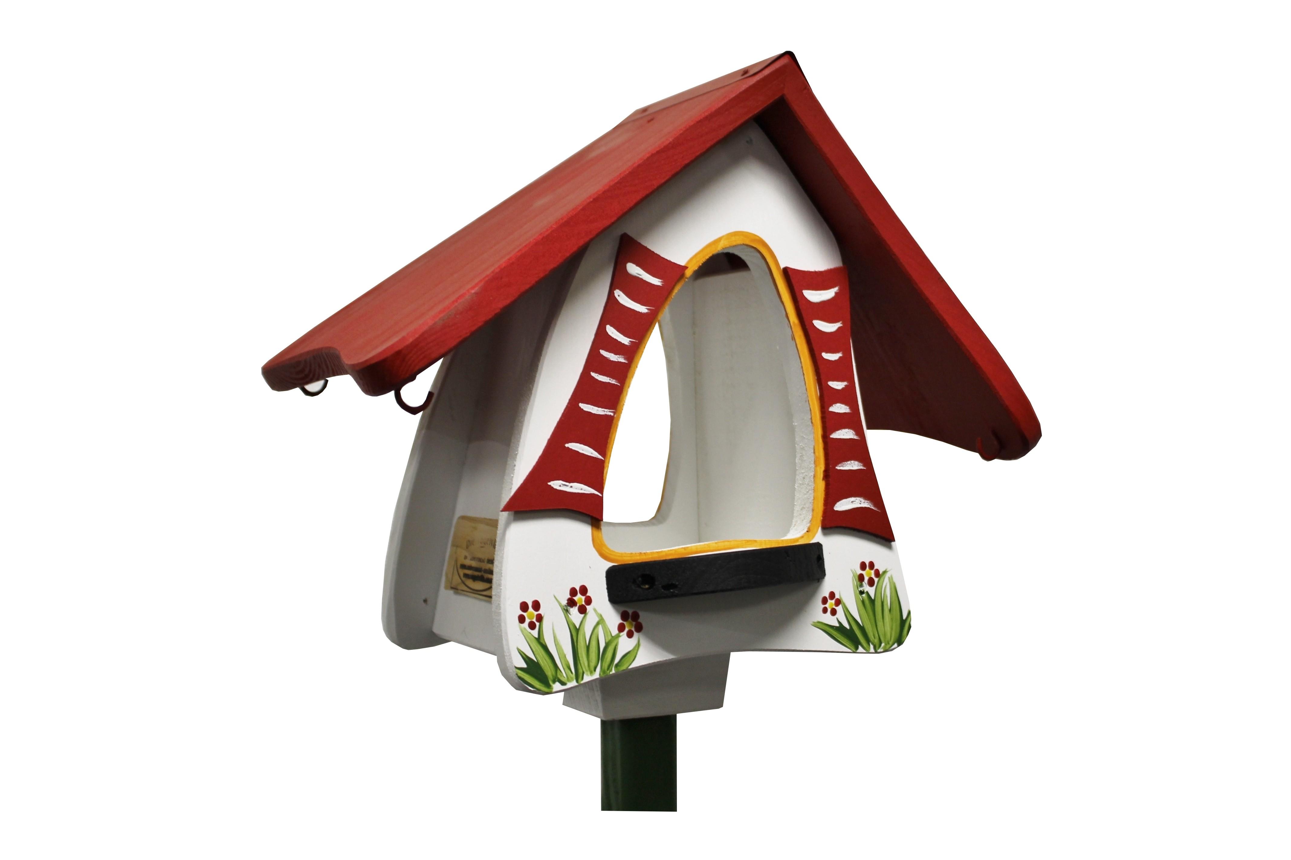 Futterhobbit stehend weiß von Die Vogelvilla