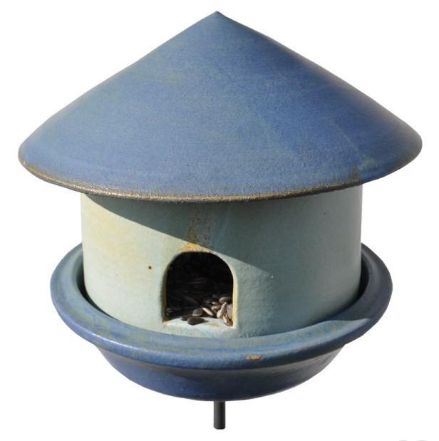 FutterTränke Keramik creme/blau