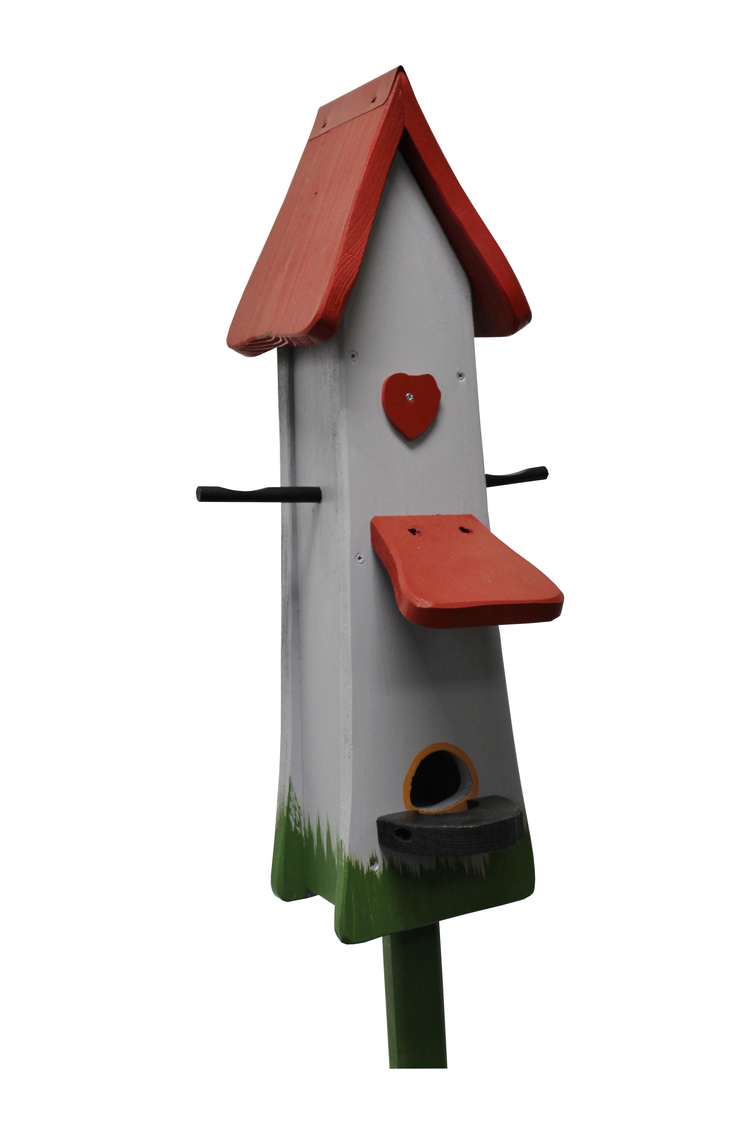 Klassik grau Futtertürmchen von Die Vogelvilla