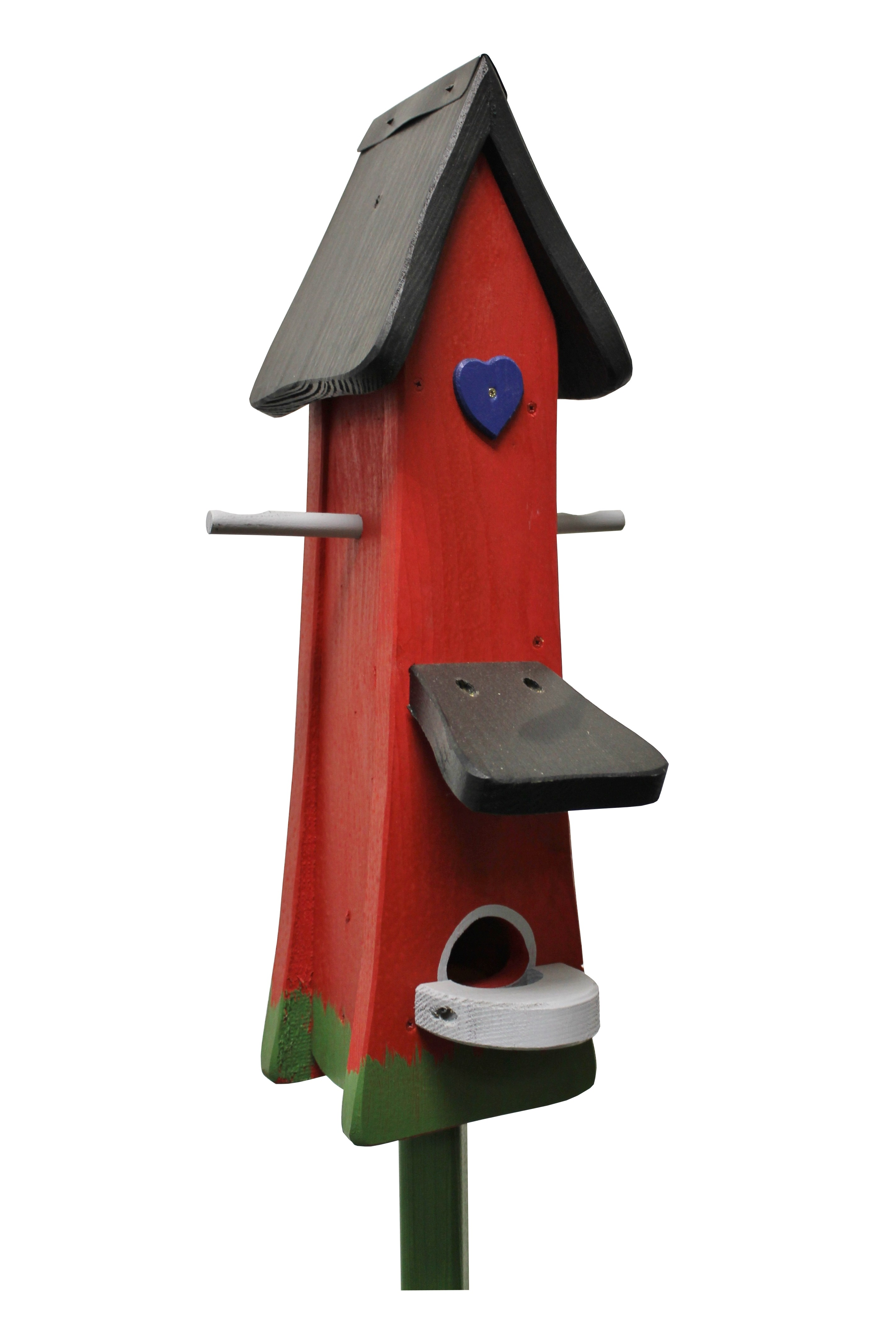 Futtertürmchen Klassik rot von Die Vogelvilla