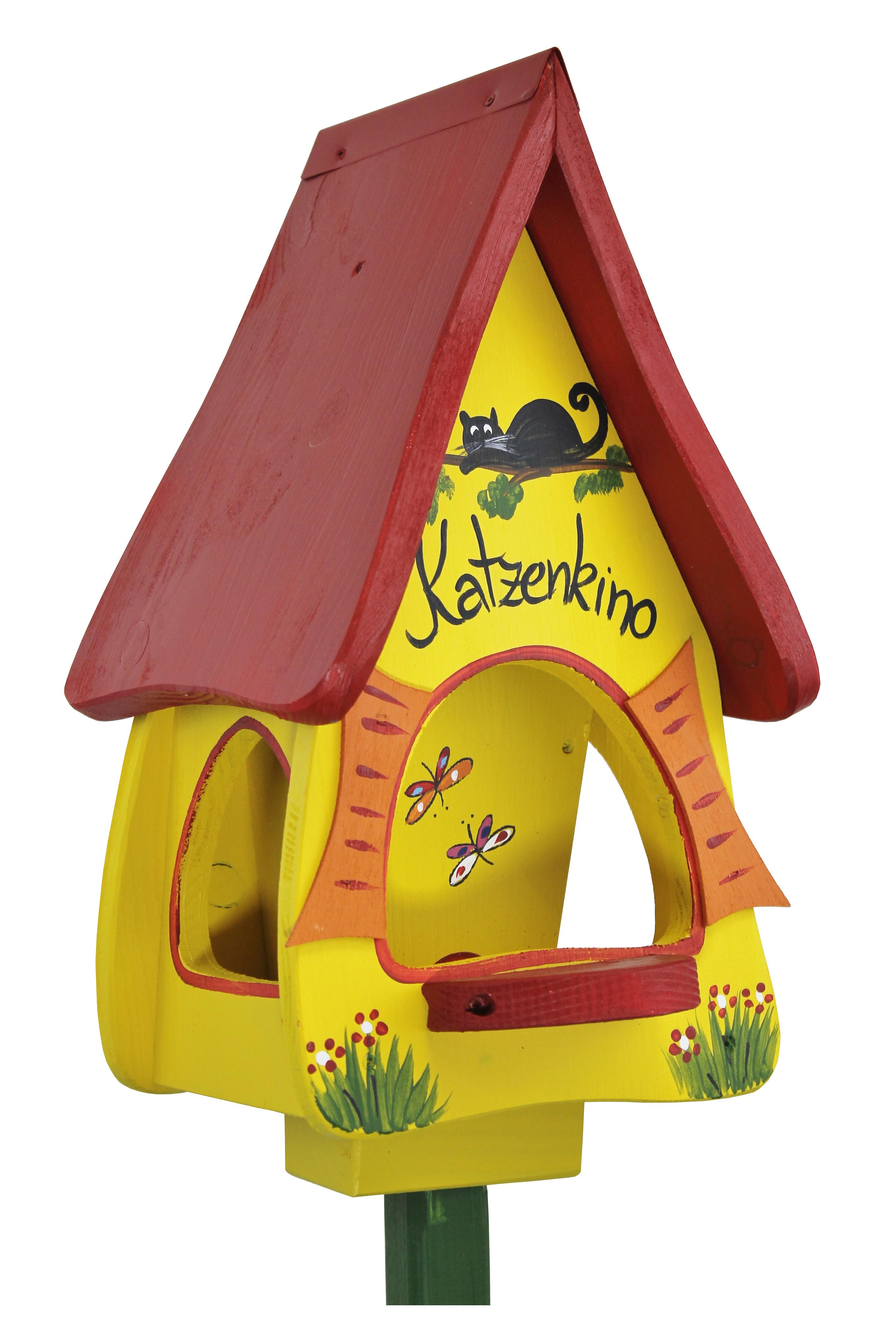 Futtervilla Katzenkino gelb von Die Vogelvilla