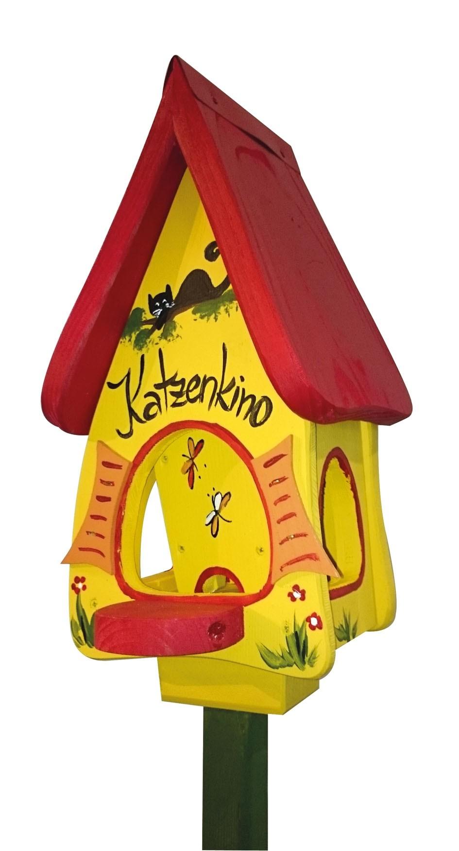 Katzenkino gelb Futtervilla Mini von Die Vogelvilla