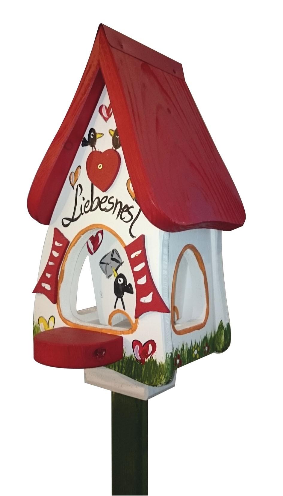 Liebesnest Brief Futtervilla Mini von Die Vogelvilla