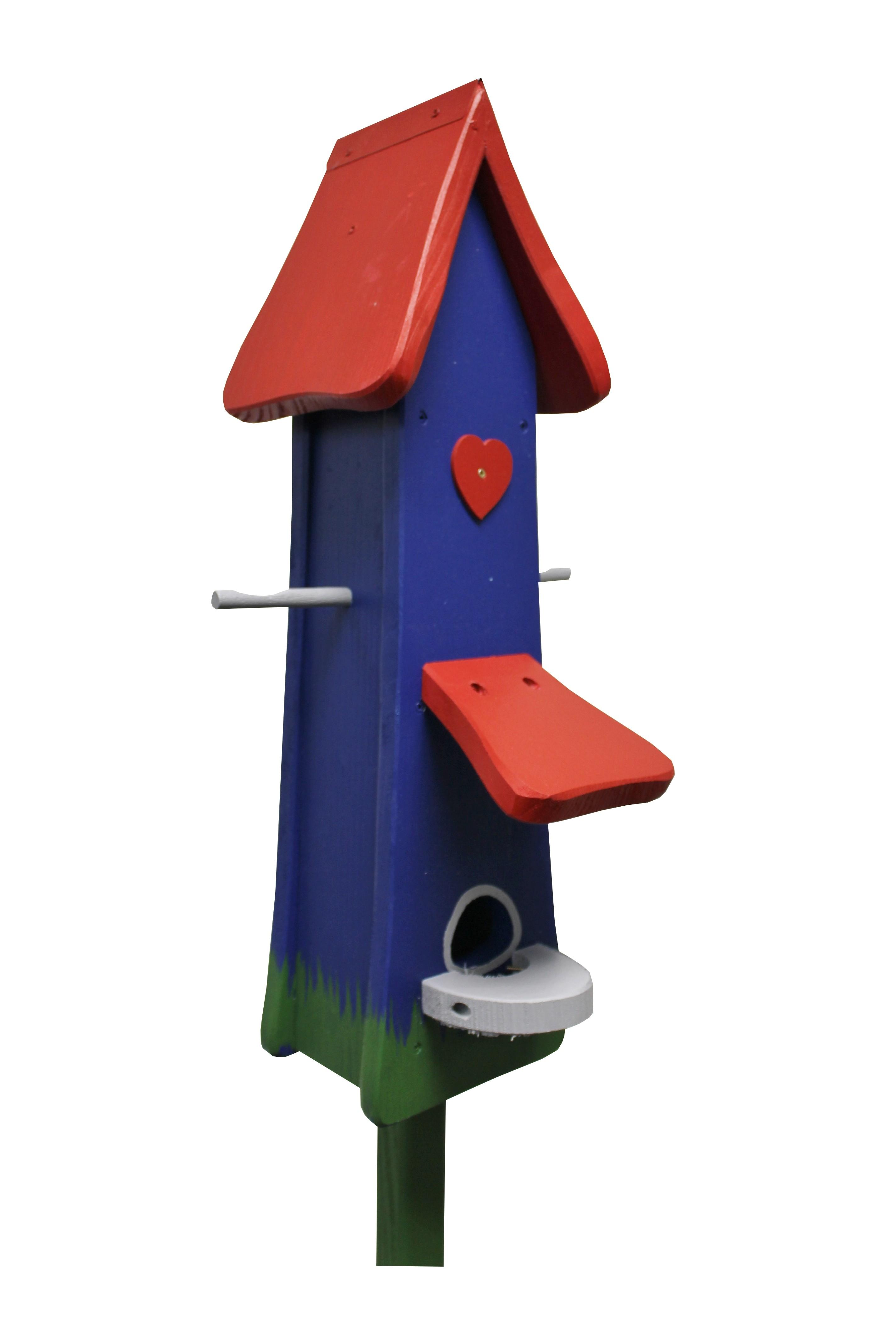 Klassik blau Futtertürmchen von Die Vogelvilla