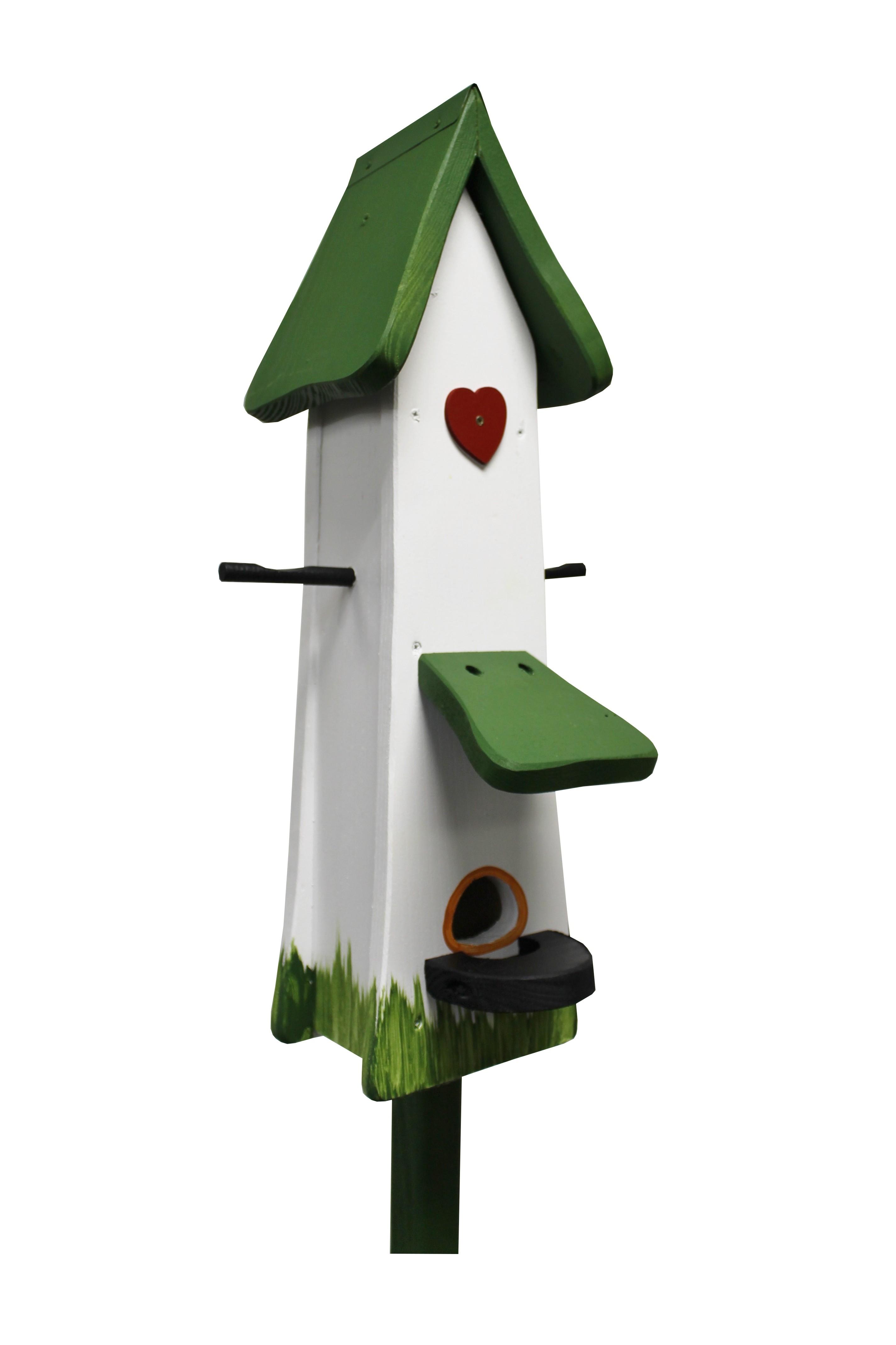 Futtertürmchen Klassik weiß von Die Vogelvilla