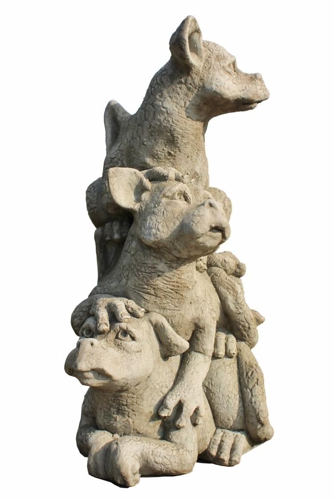 "Skulptur Drachenbabys ""Drachentrio Lookout"""