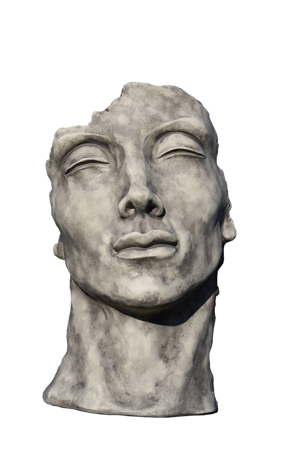 Skulptur Gesicht Mann klein Steinguss