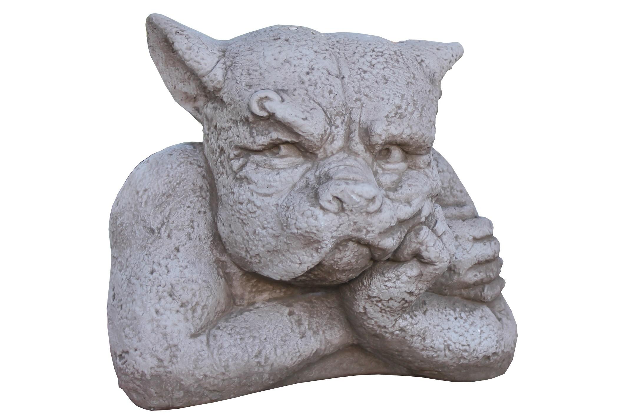 Skulptur Gargoyle Gordon Steinguss antik