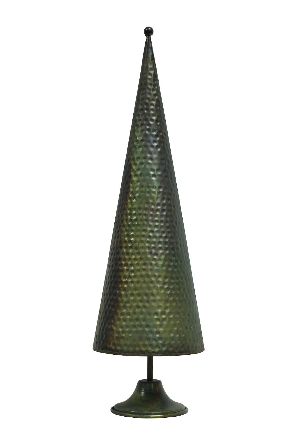 Deko Tannenbaum Kegel Optik grün-gold groß