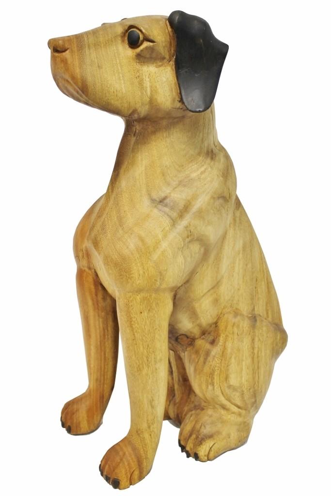 Holz  Unikat Skulptur Hund Beagle Hound Dog handgefertigt