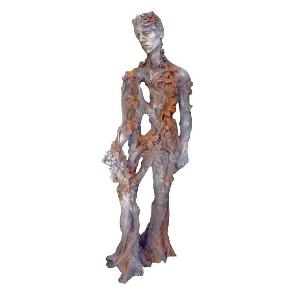 Skulptur König der Natur Artur Steinguss Rosteffekt 170cm 160 Kg