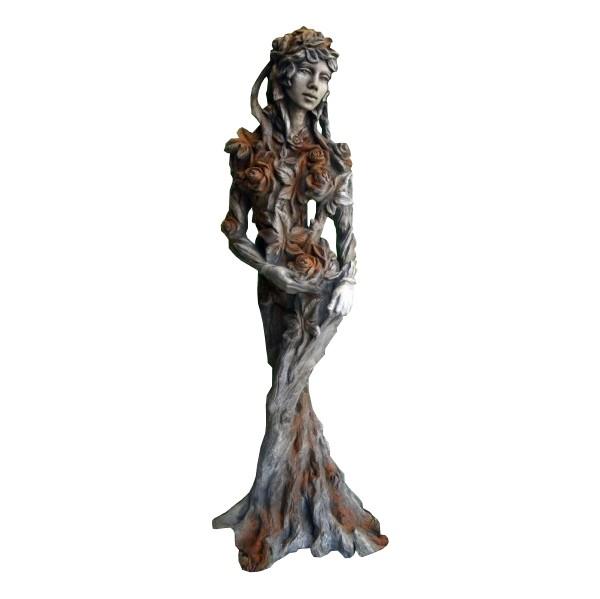 Skulptur Königin der Natur Ada Steinguss Rosteffekt 165cm 150 Kg