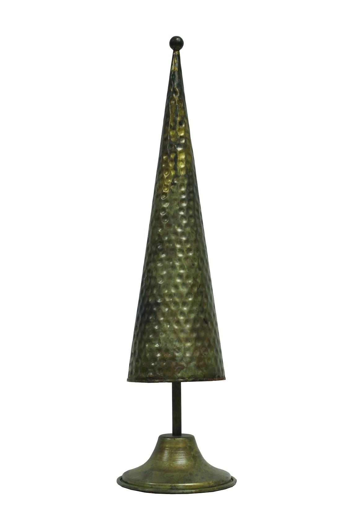 Deko Tannenbaum Kegel Optik grün-gold klein