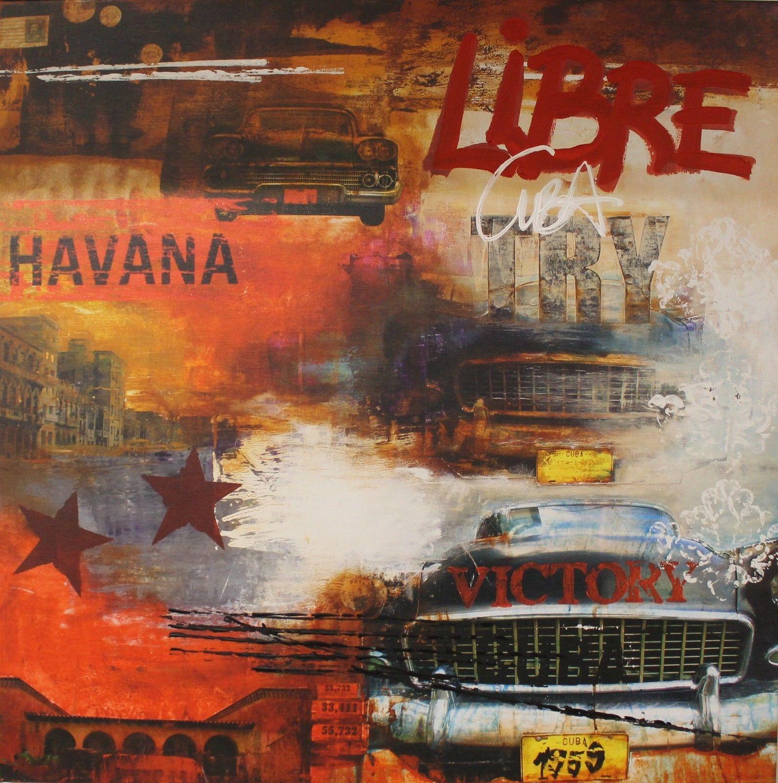 Kunstdruck & Original Malerei Havanna Cuba Libre