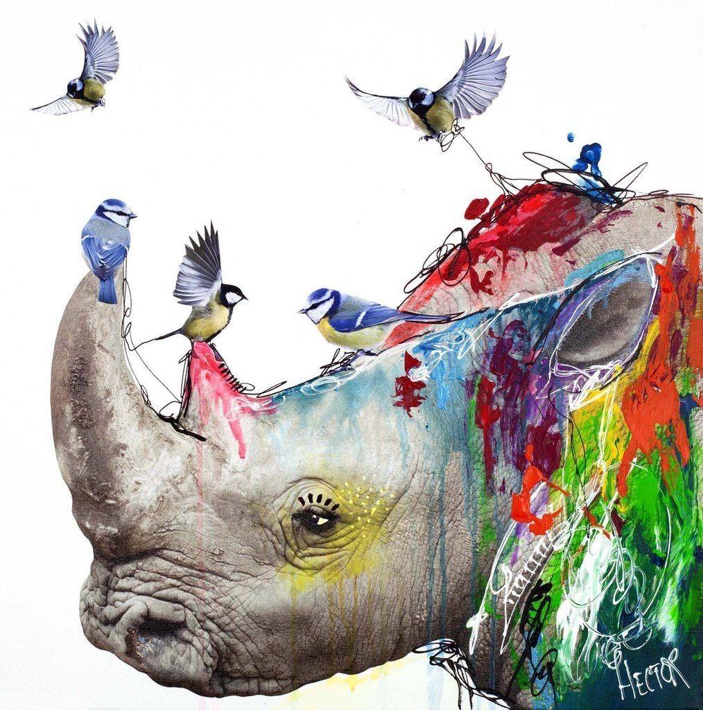 Kunstdruck & Original Malerei Rhino