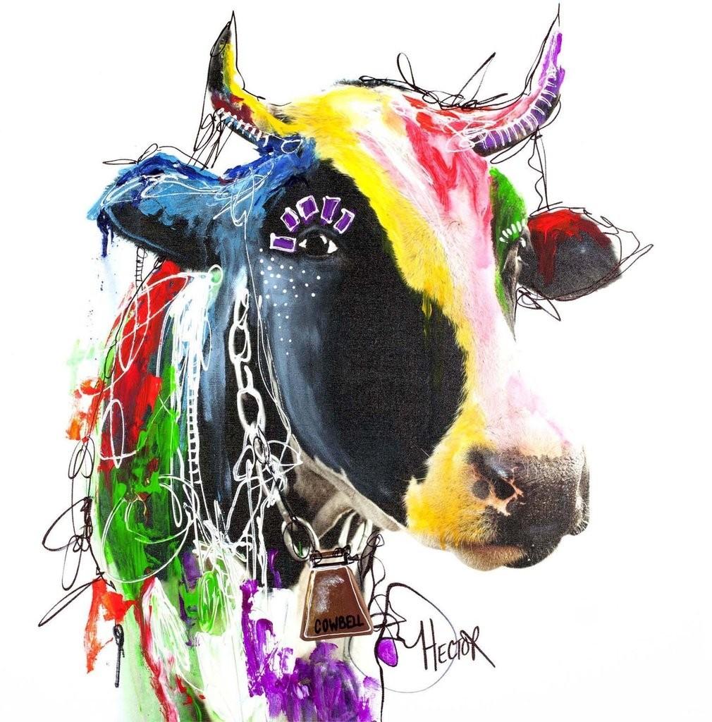 Kunstdruck & Original Malerei Cow