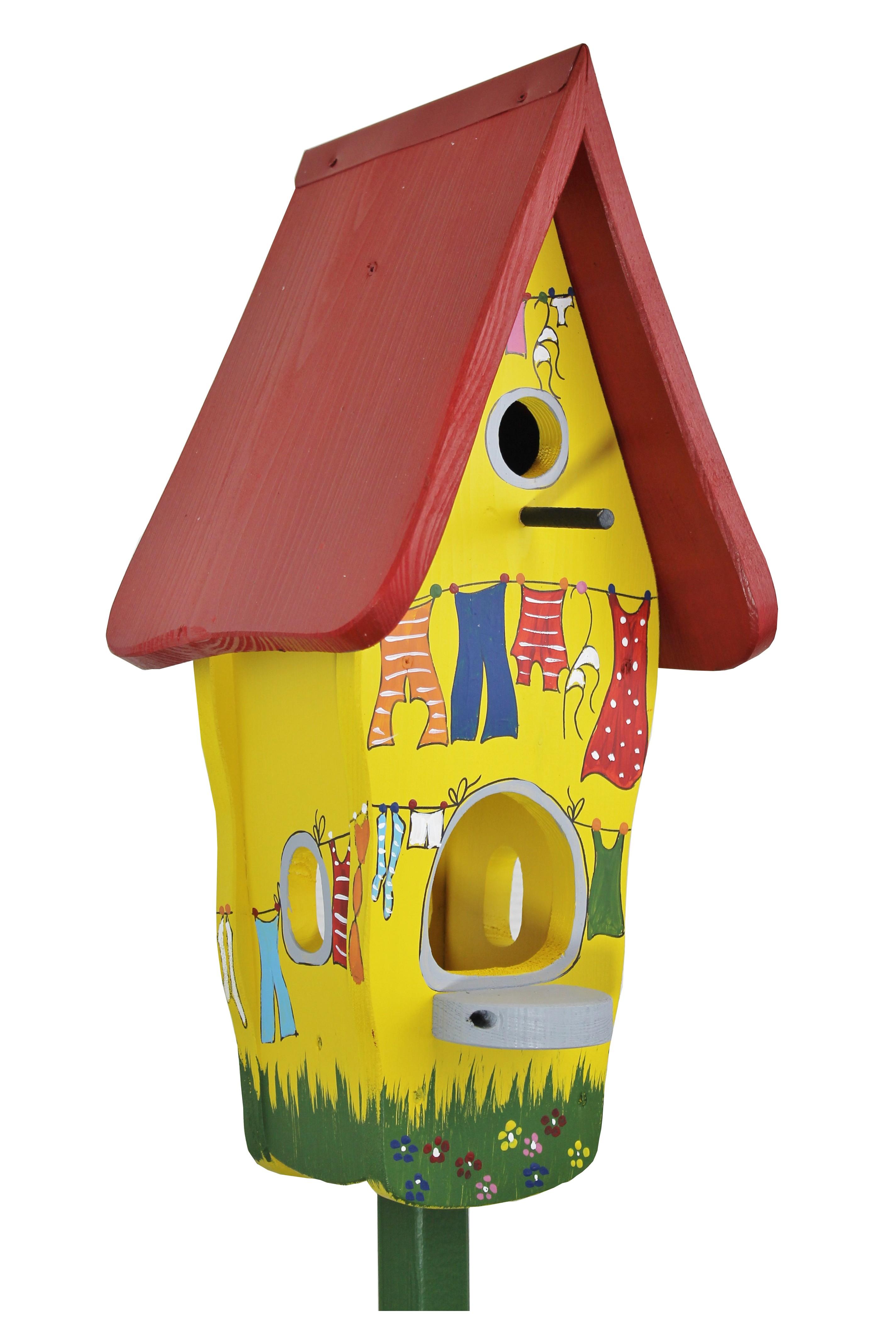 Bunte Wäsche Minivilla 1 von Die Vogelvilla