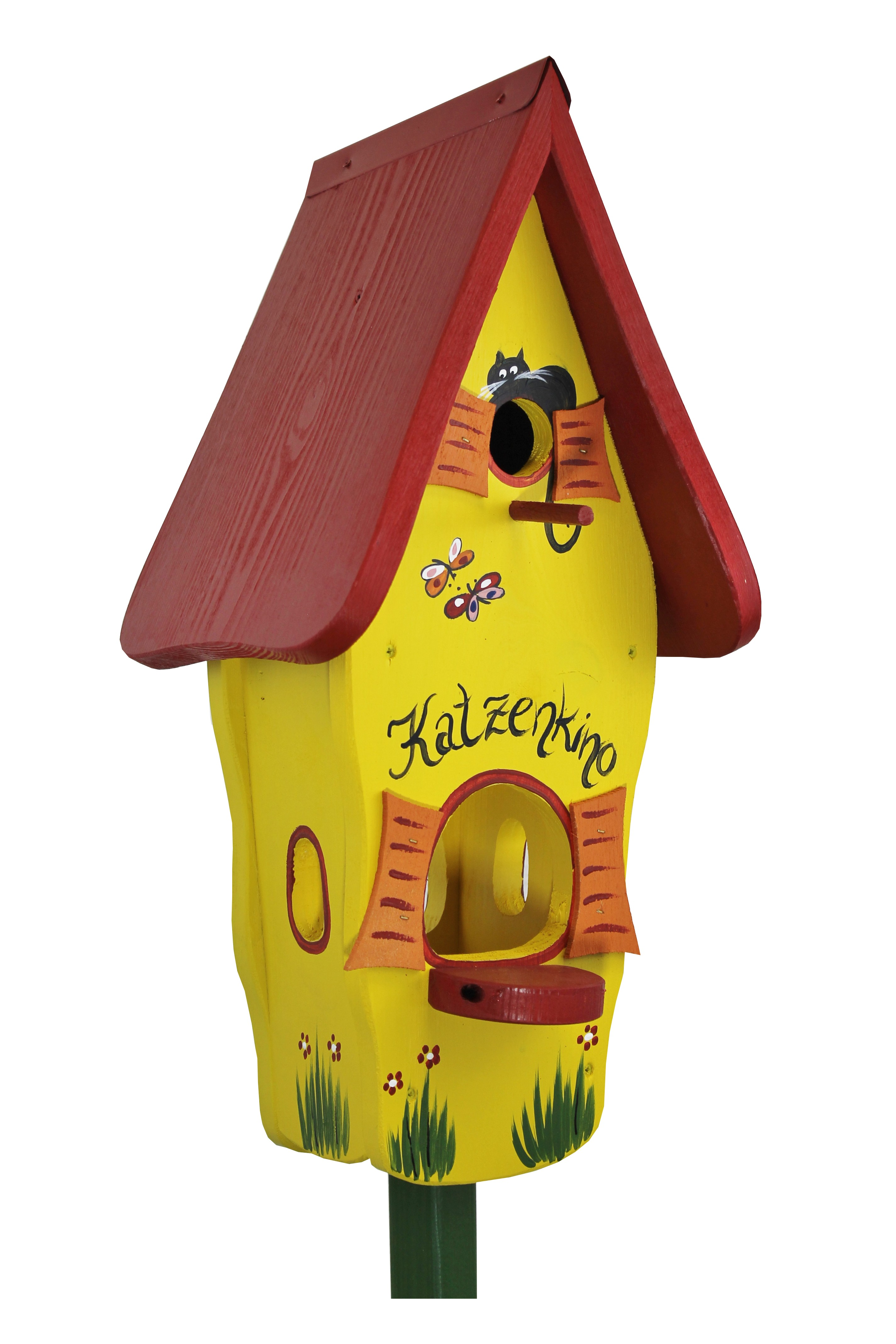 Minivilla 1 Katzenkino gelb von Die Vogelvilla