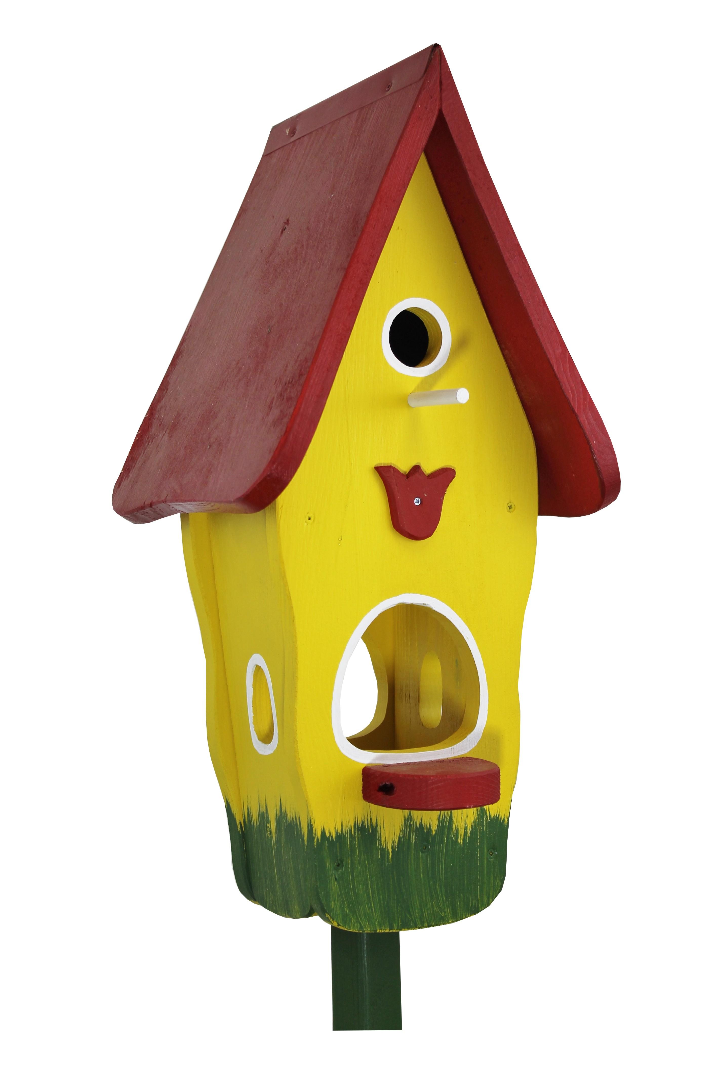 Tulpe gelb Minivilla 1 von Die Vogelvilla