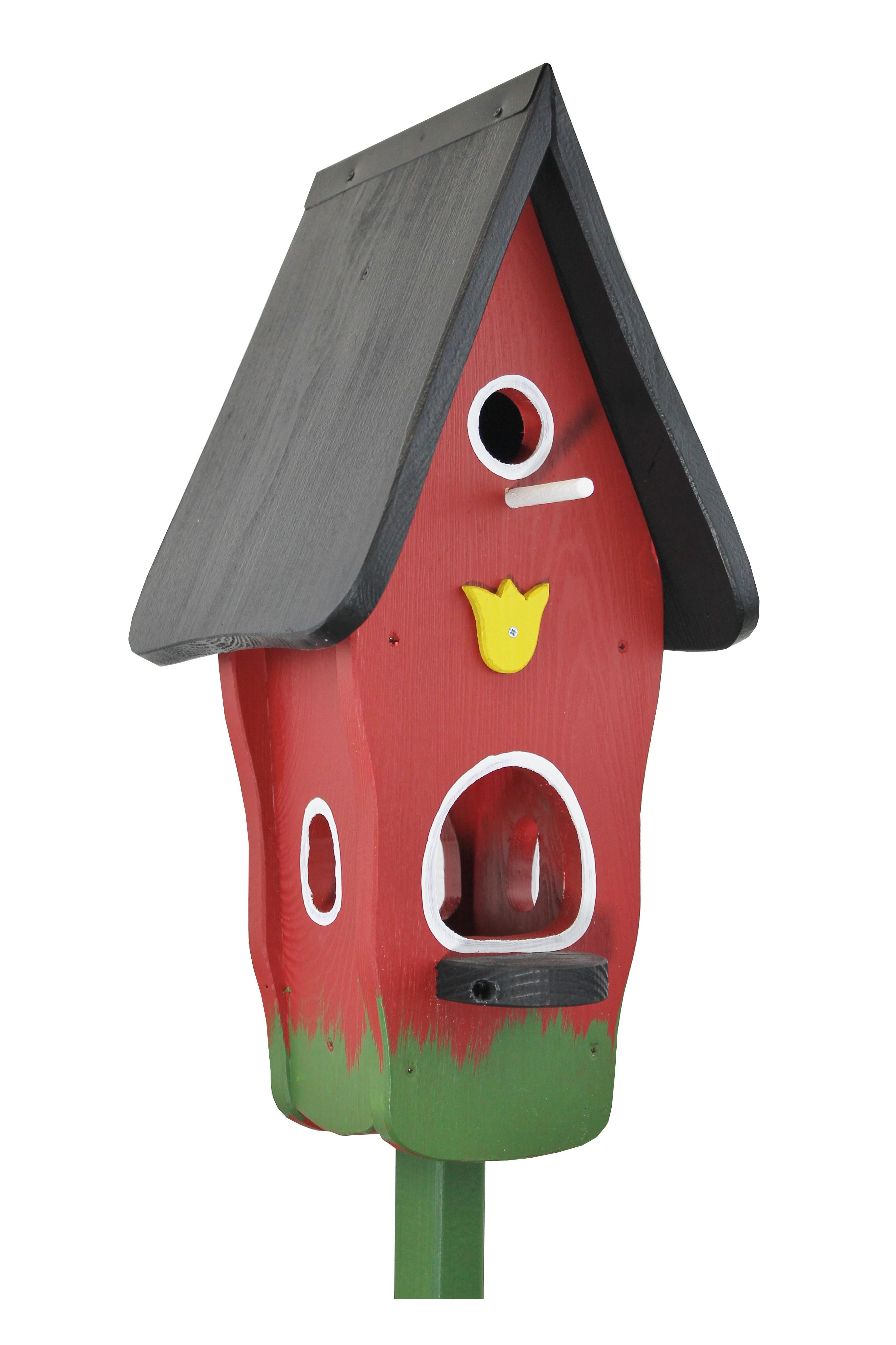 Minivilla 1 Tulpe rot von Die Vogelvilla
