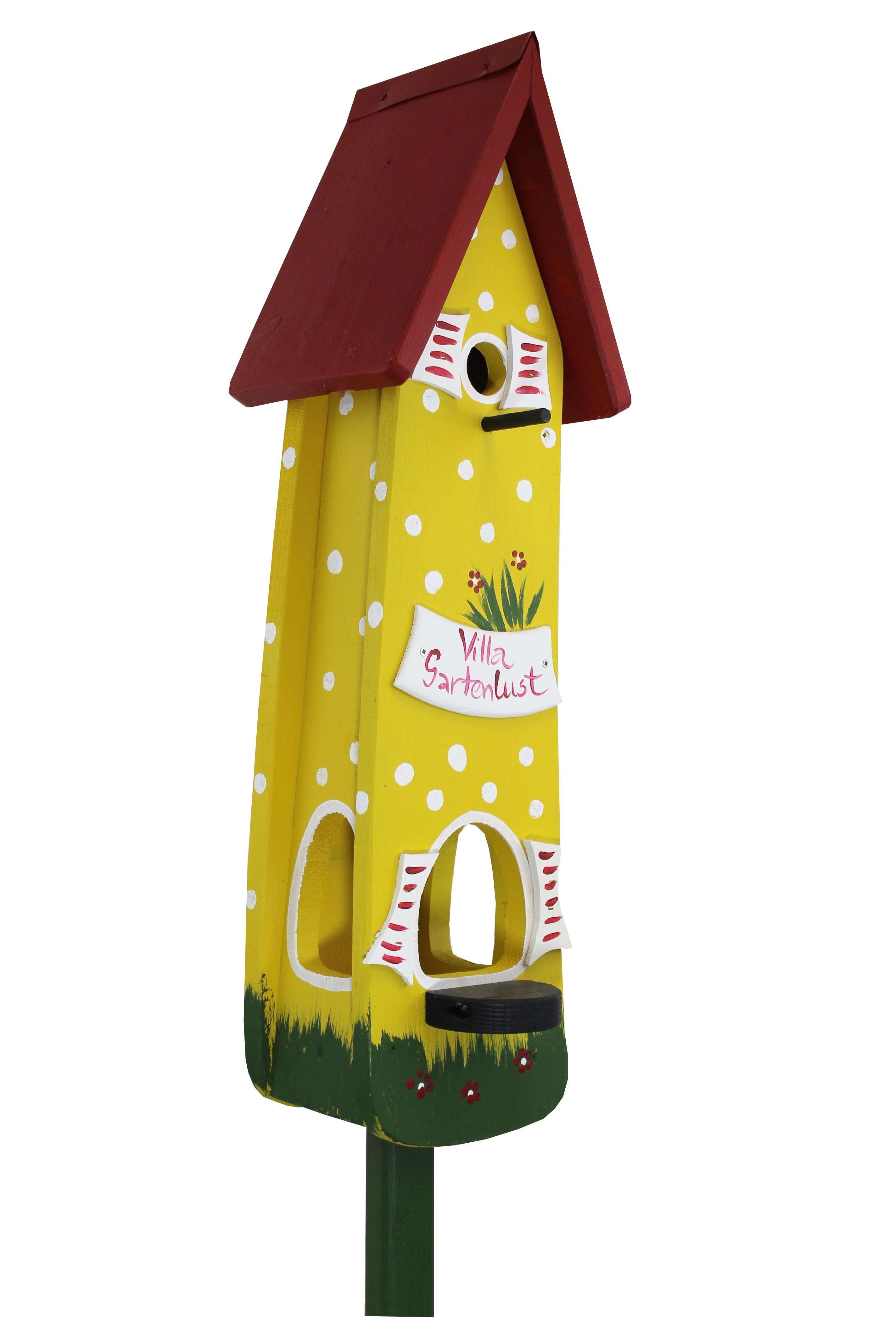 Gartenlust gelb Minivilla 2 von Die Vogelvilla