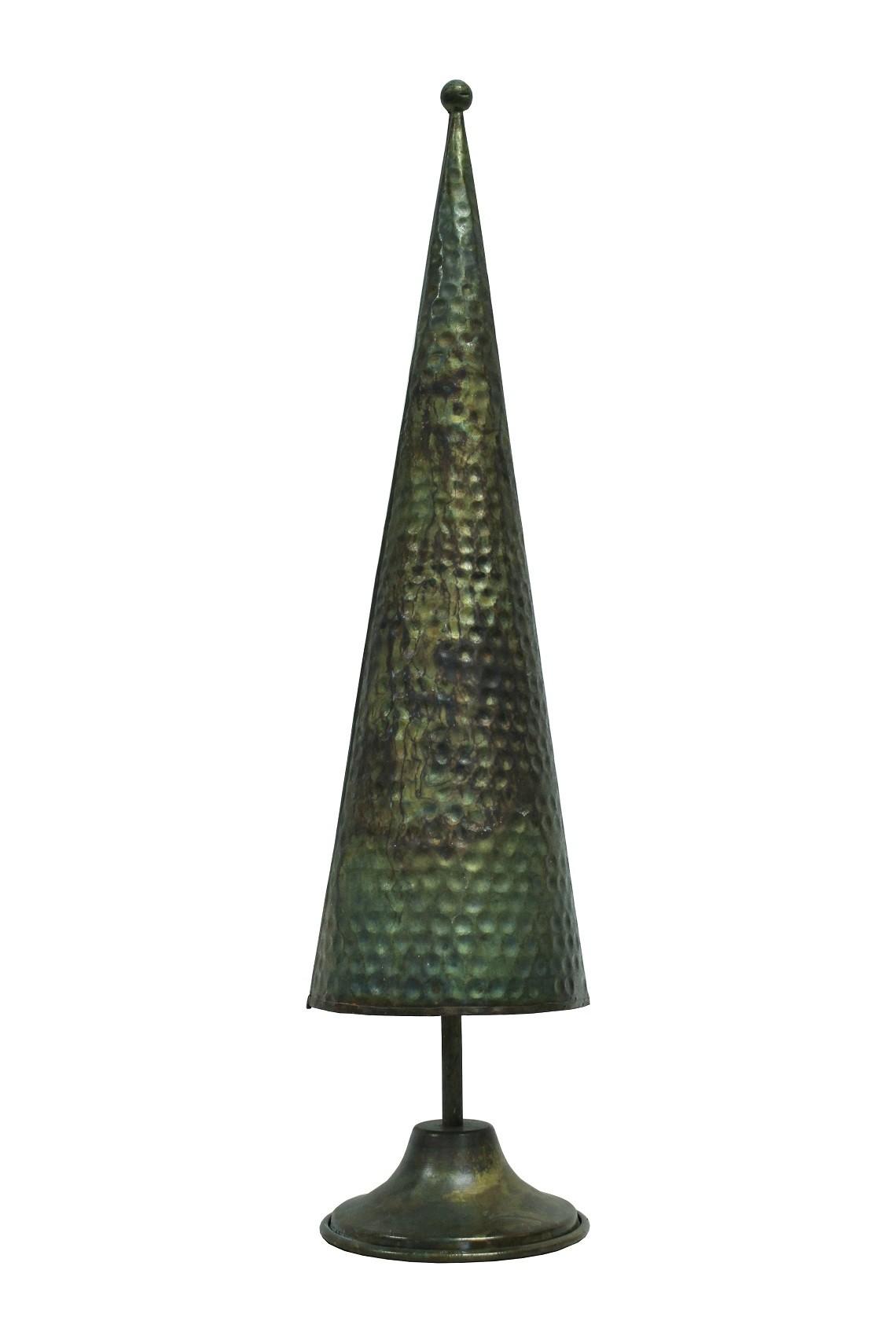 deko tannenbaum kegle optik gr n gold klein vollwaren. Black Bedroom Furniture Sets. Home Design Ideas