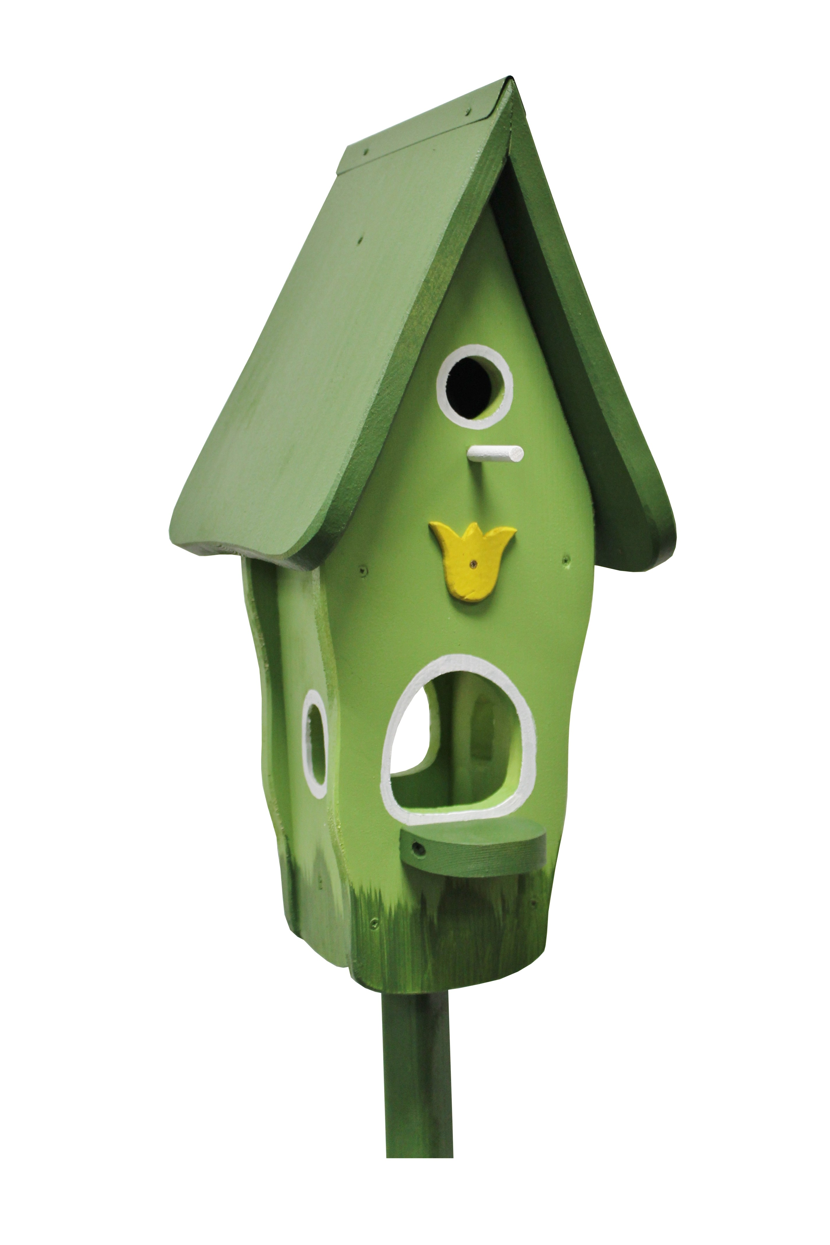 Minivilla 1 Tulpe grün von Die Vogelvilla