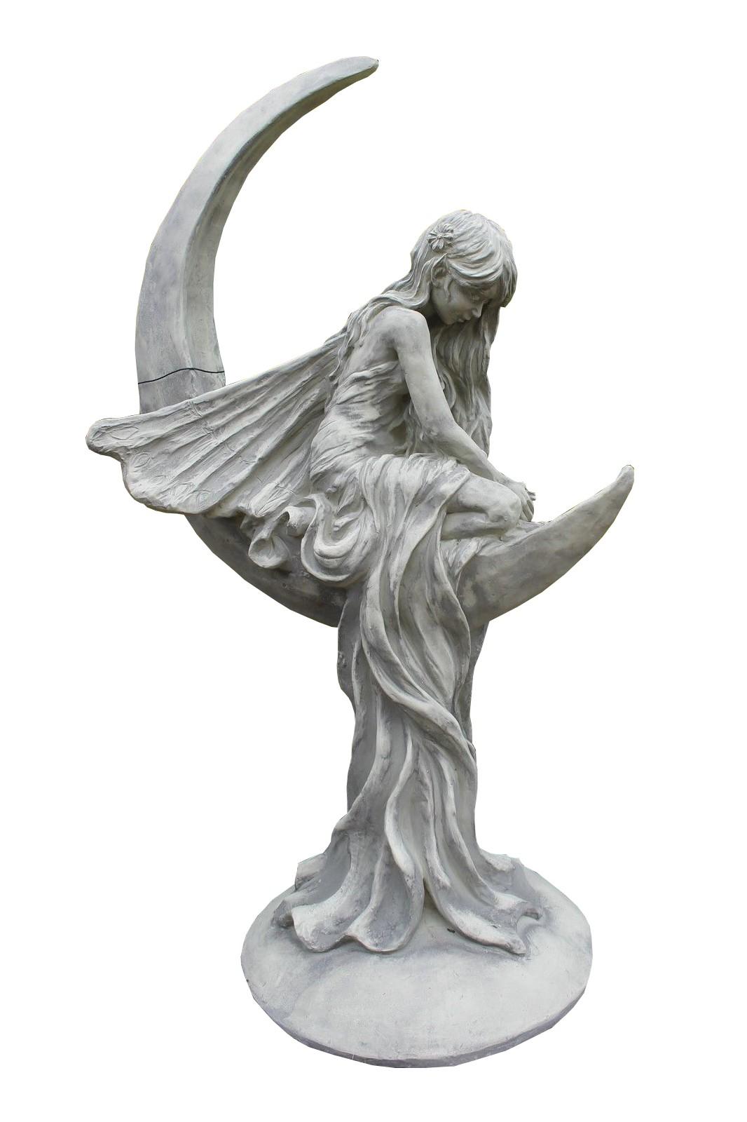 Skulptur Mondfee Lunaria Steinguss
