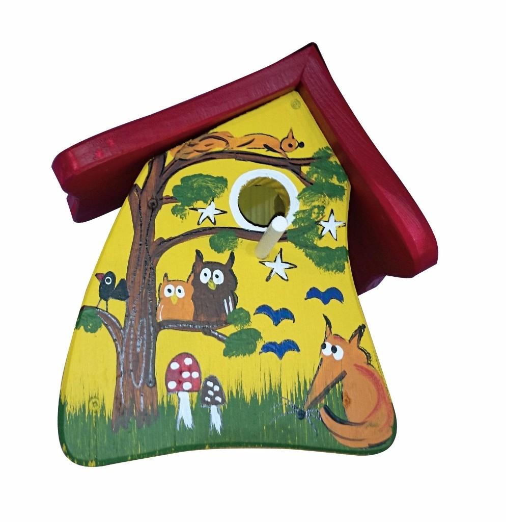 Tiere des Waldes gelb  Nistmini von Die Vogelvilla
