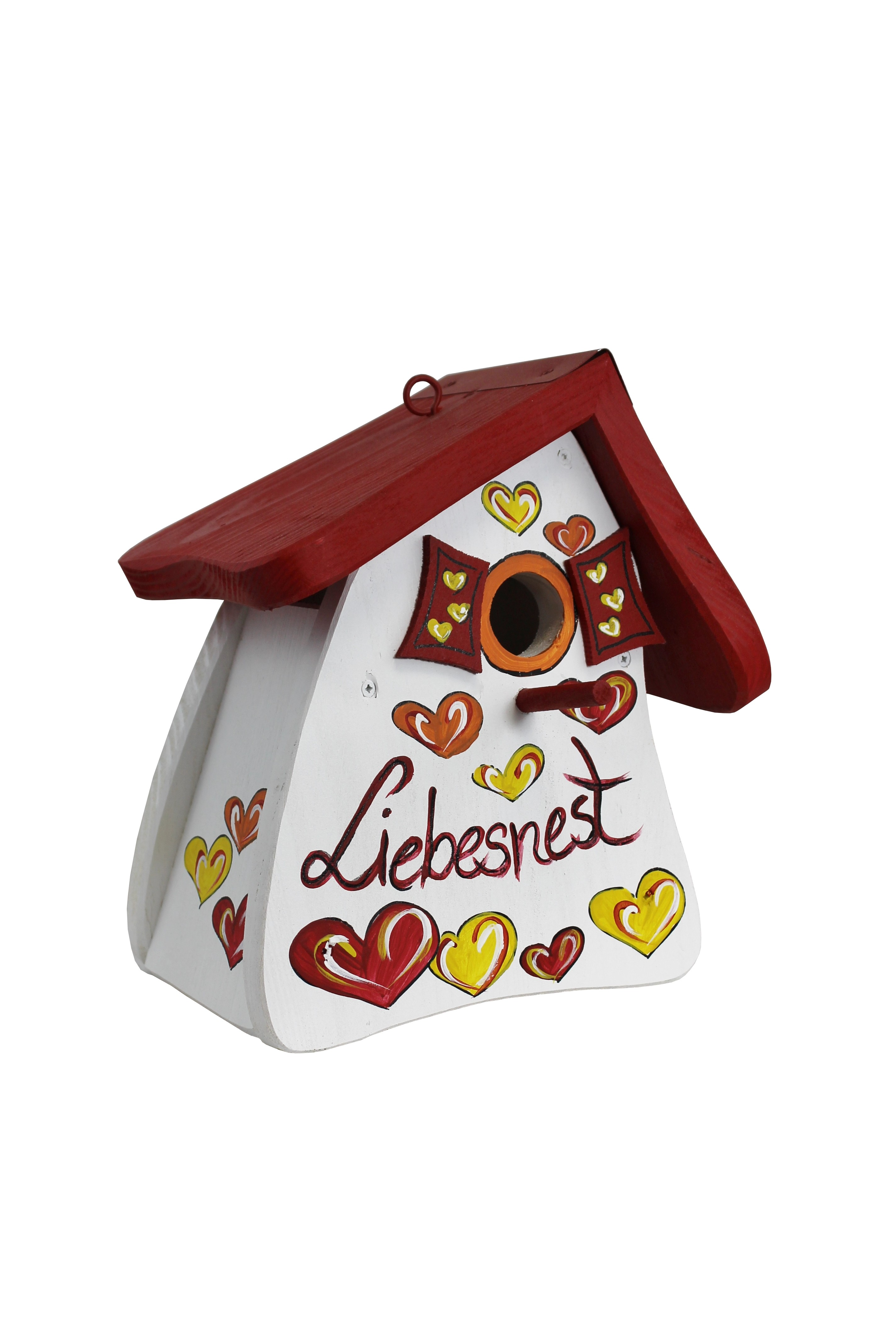Liebesnest Herzen weiß Nistmini von Die Vogelvilla