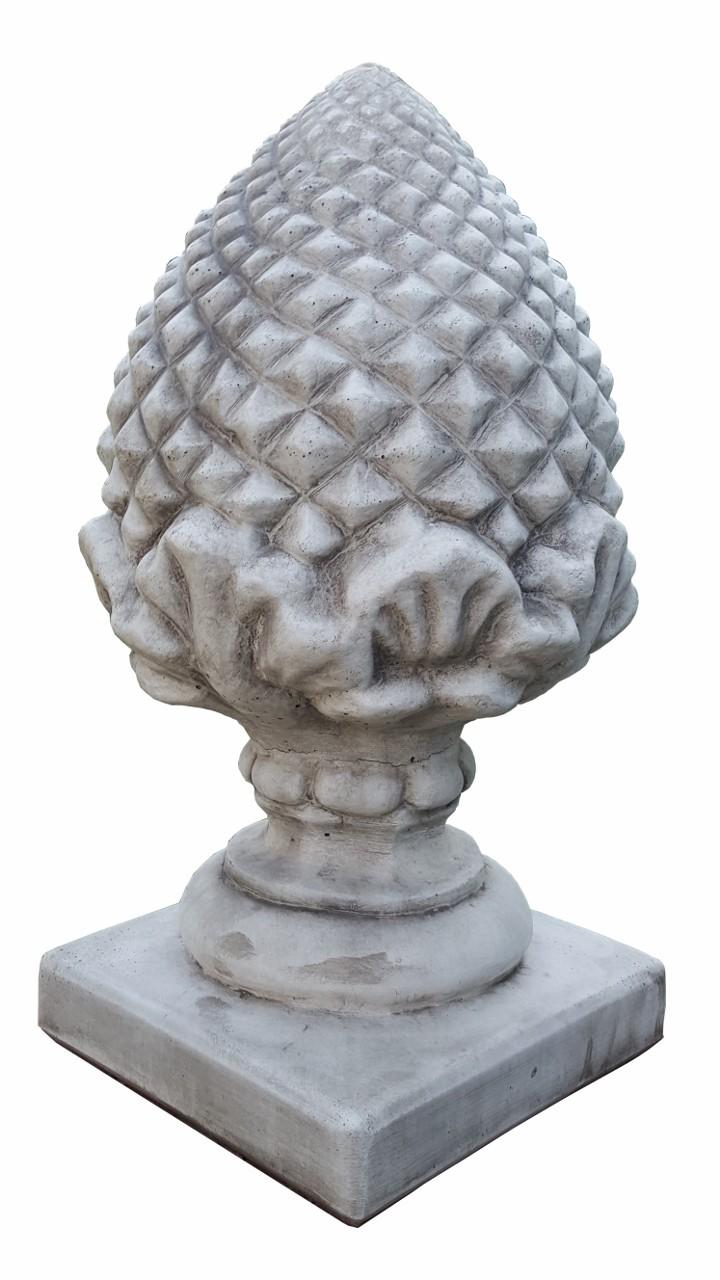 Skulptur Pinienzapfen Steinguss 46kg schwer