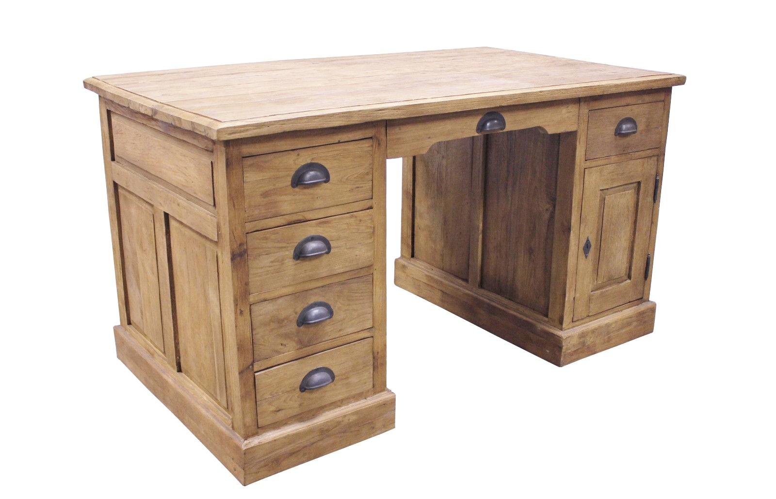 Teak Schreibtisch SE40-3 Single Desk