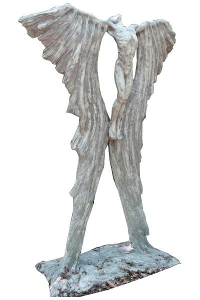 Skulptur Ikarus Steinguss antik 190cm 220 Kg