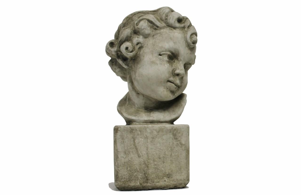 Skulptur Mädchenkopf Steinguss antik 5,4kg schwer