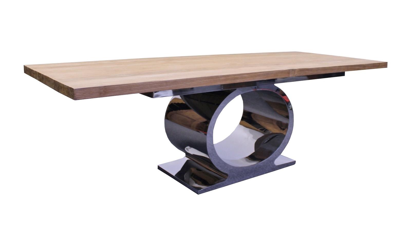 Teak Metall Esstisch Tube 250 cm JE075