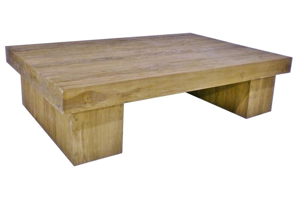 Teak Block Couchtisch Se13-1 120-140 cm
