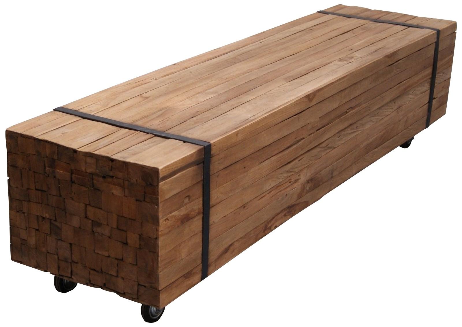 Teak Planken Couchtisch Toulouse 160x40 LF034