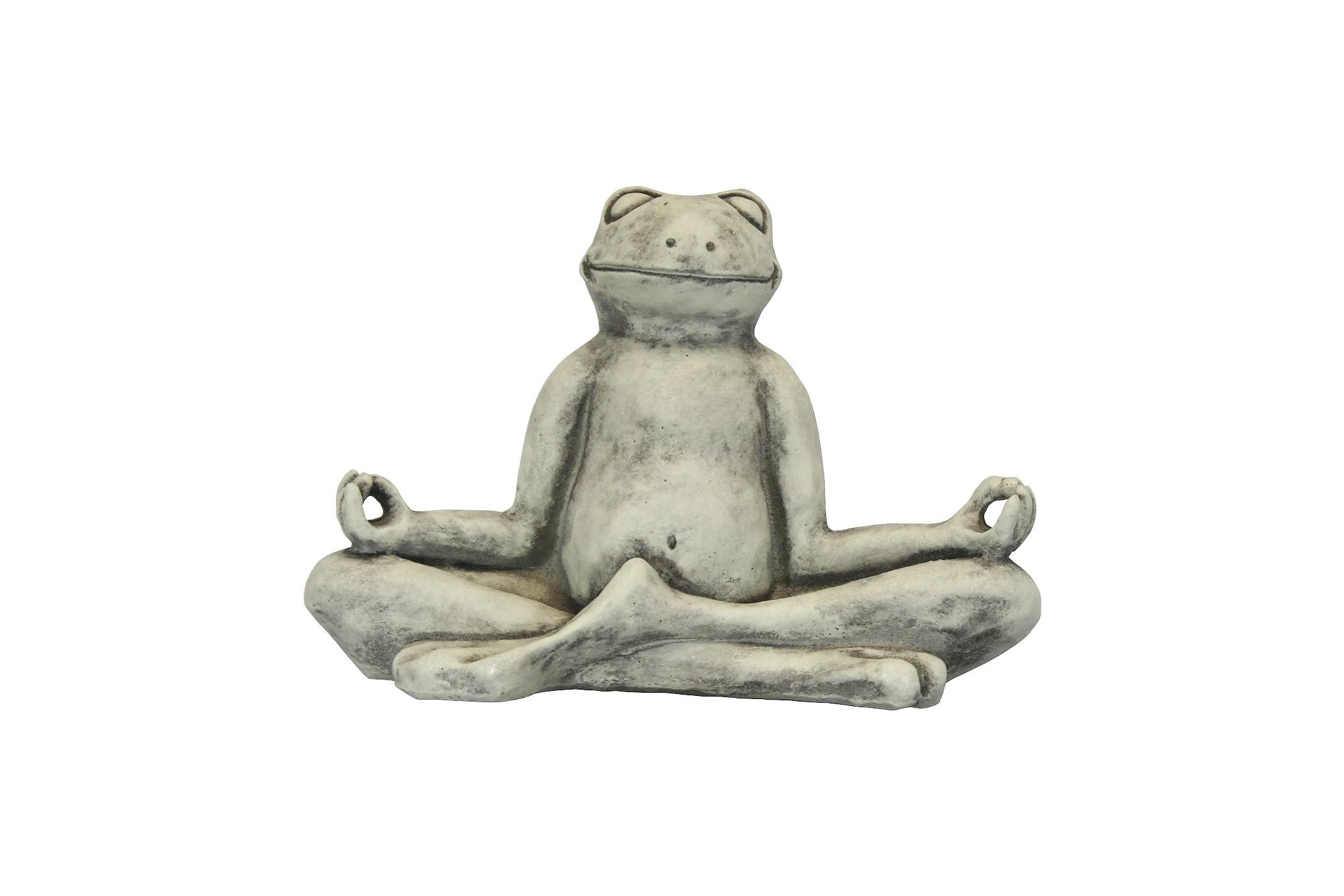 Skulptur Yoga Frosch klein 3kg
