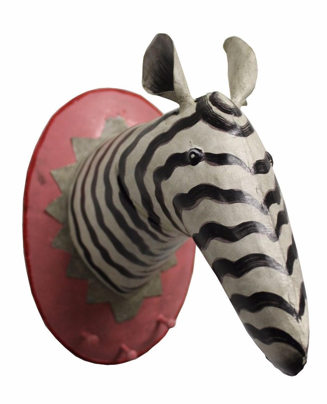Garderobenhaken Trophäe Zebra groß