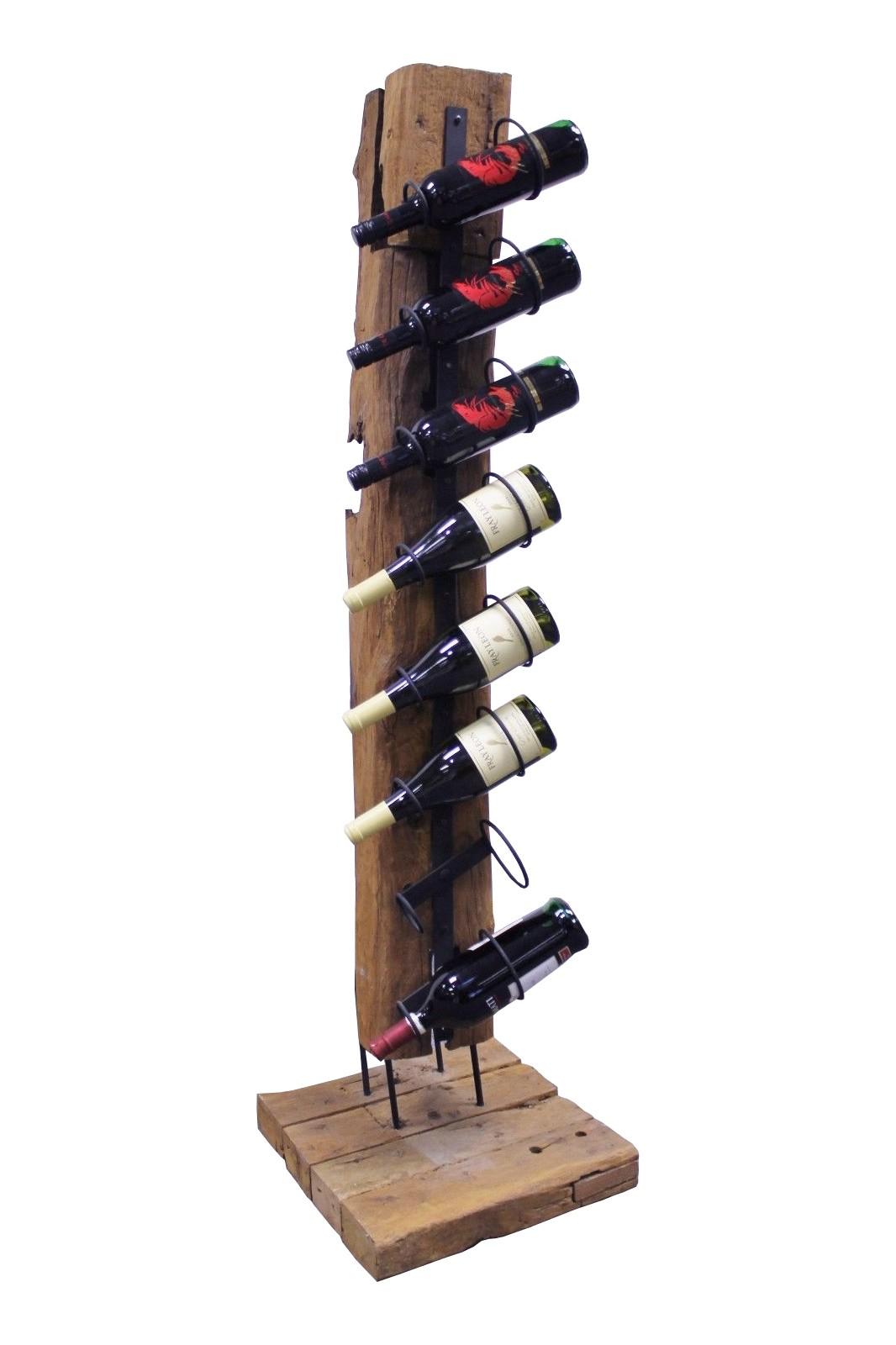 Teak Skulptur Weinregal Bottle Tree