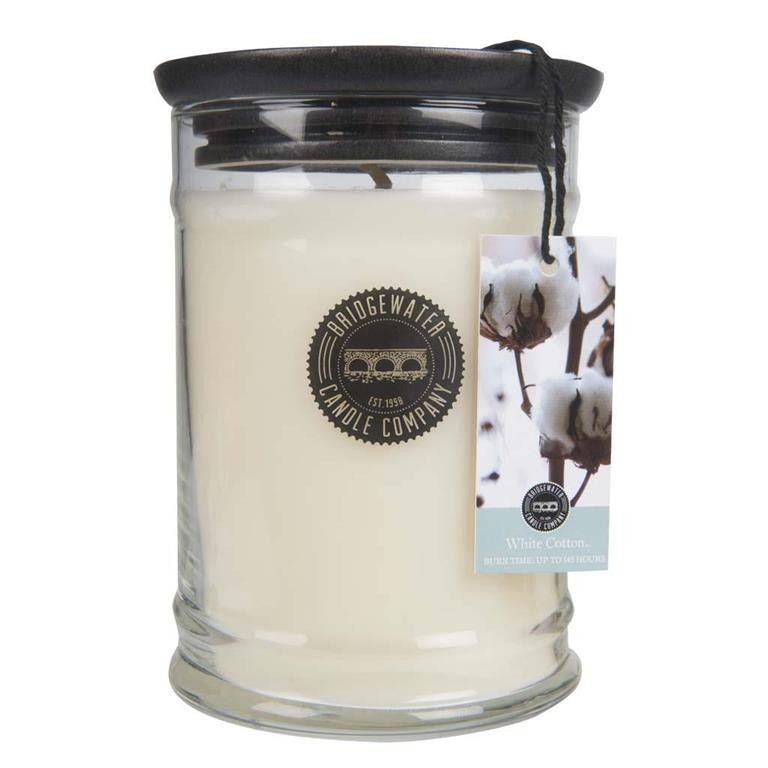 Duftkerze White Cotton groß 524g Bridgewater Candle