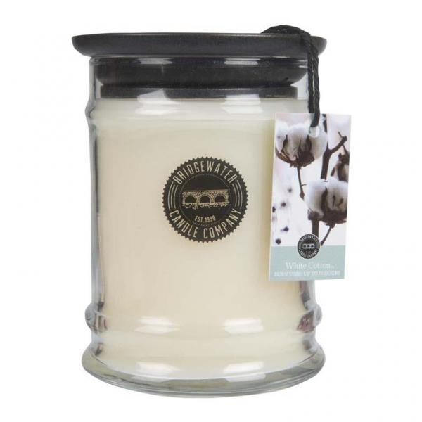 Duftkerze White Cotton klein 250g Bridgewater Candle