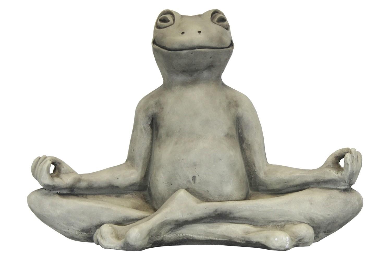 Skulptur Yoga Frosch Groß 10kg